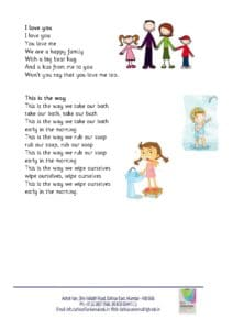 Playgroup – Rhymes for the month of April , 2018