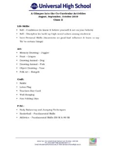 Class-II-A-Glimpse into the Co-Curricular-Activities-August,September,October-2019
